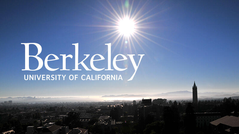 ID: UC Berkeley logo on sunrise background
