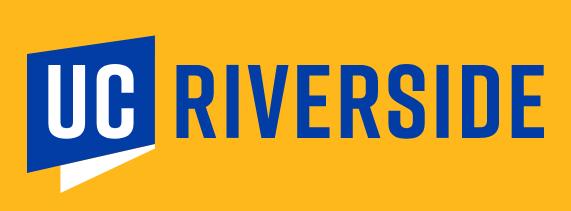 ID: UC Riverside logo on gold background