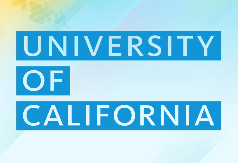 ID: University of California in print against pastel background