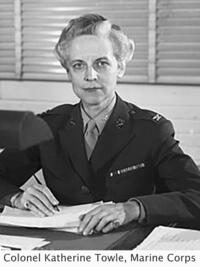 image of Colonel Katherine Towle from the Marine Corps with a determined look