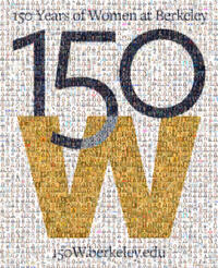 150W mosaic comprised of several hundred headshots submitted by the campus community
