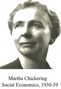 grayscale headshot of Martha Chickering looking into the distance with a determined expression