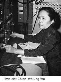 image of physicist Chien-Whiung Wu busy operating machinery