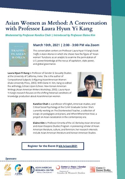 "A Conversation with Professor Laura Hyun Yi Kang"""